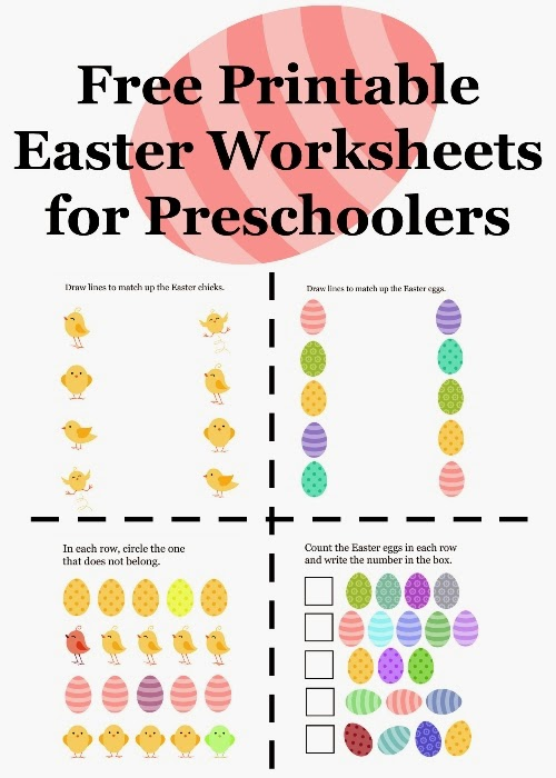 Free Printable Easter Worksheets for Preschoolers ~ Planet Weidknecht