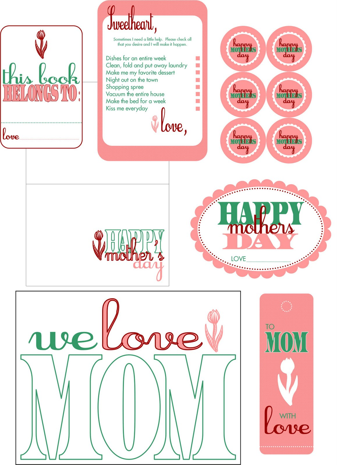 Embellish Free Printables Happy Mother S Day
