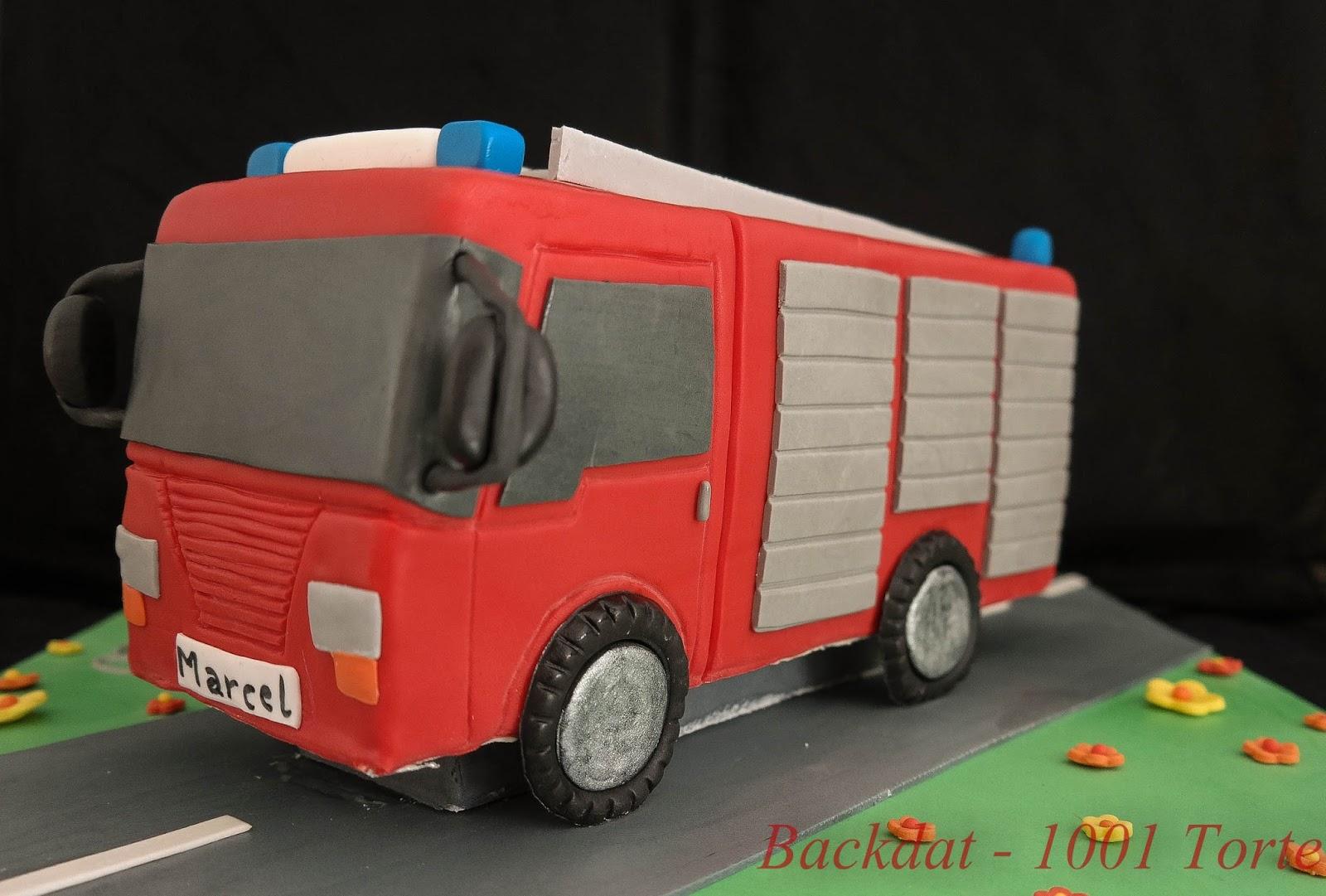 Backdat 1001 Torte Feuerwehrauto