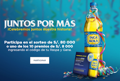 Sorteo Inca Kola - Premios de S/.80000 y S/.8000