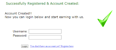 Success registration
