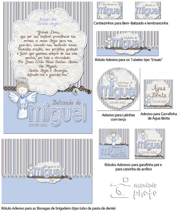 Armario Para Cozinha Pequena De Parede ~ Rótulos e Adesivos para Batizado do Miguel Mania de Photo