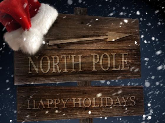 besplatne Božićne pozadine za desktop 1024x768 free download čestitke blagdani Merry Christmas sjeverni pol Happy Holidays