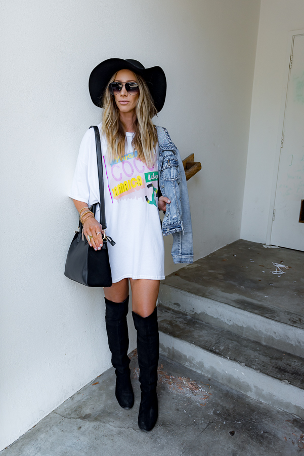parlor girl how to wear a t-shirt dress