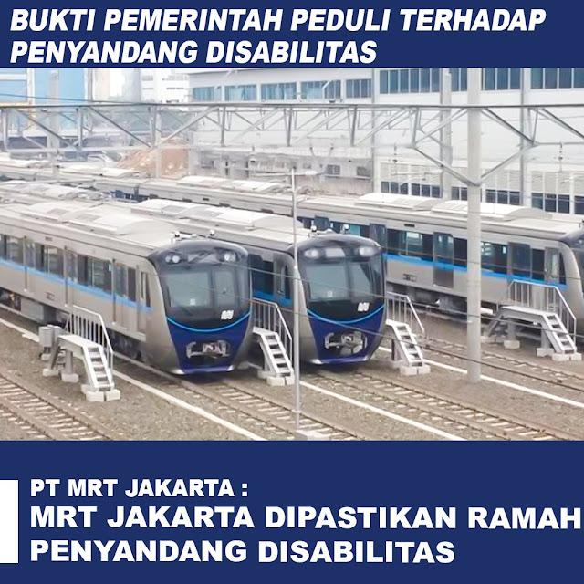 MRT Jakarta Dipastikan Ramah Penyandang Disabilitas