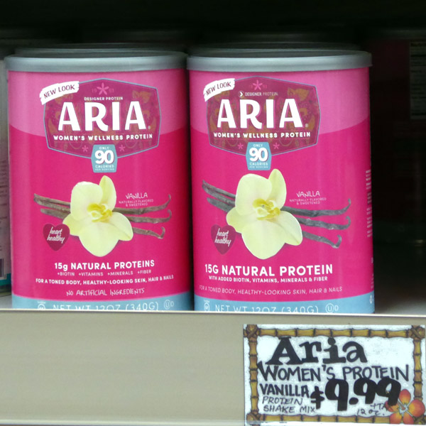 Musical terms in the marketplace - Aria Women's Wellness Protein