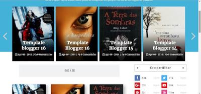 Template Tema para blog de livro blogger