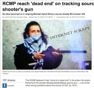 RCMP fail to trace Zehaf-Bibeau rifle -  Canadian Press report