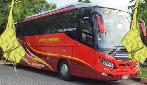 Tarif tuslah mudik 2017 bus putera mulya wonogiri