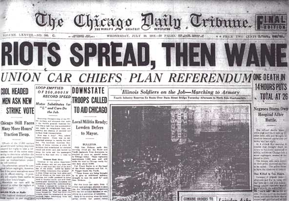 1920s Riots By Year: ScogginzHist0ry: Chicago Race Riots