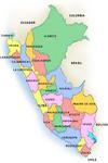 Mapa de los departamentos de Perú