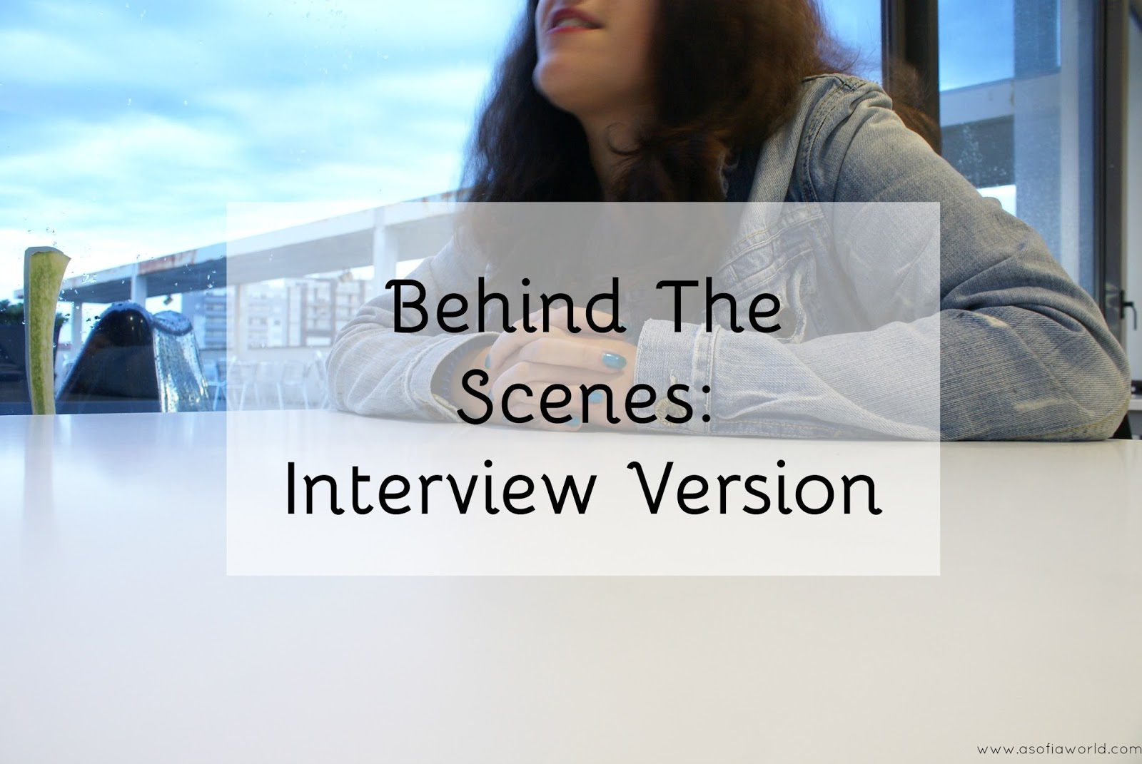 An exclusive look to an interview.
