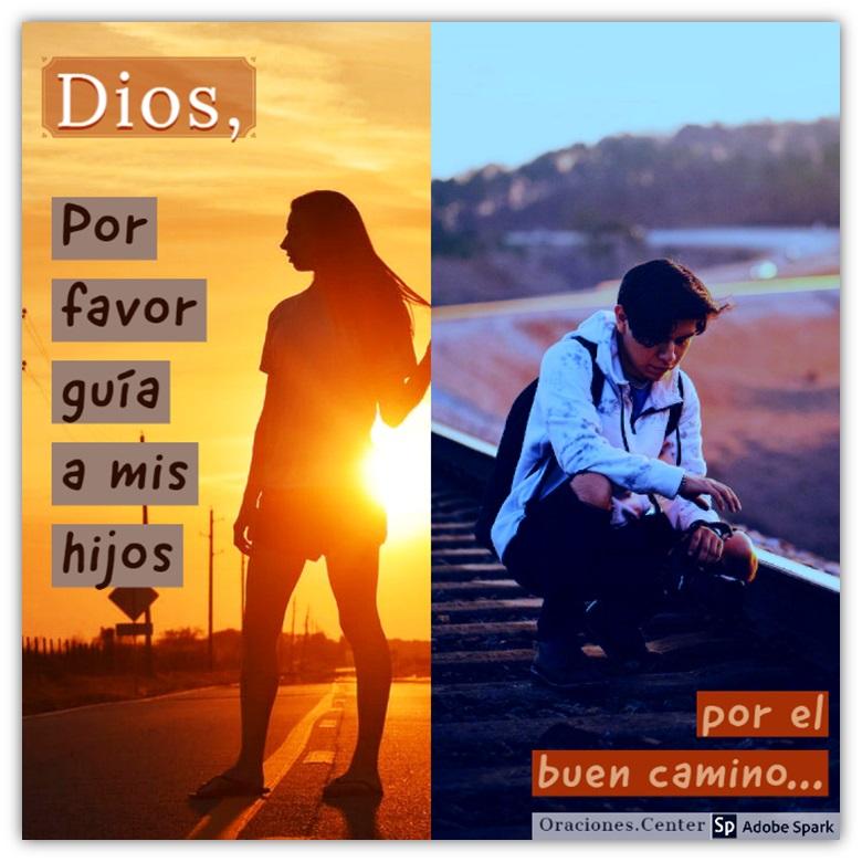 Una Oración para mis Hijos para que Dios les Guíe por el Buen Camino