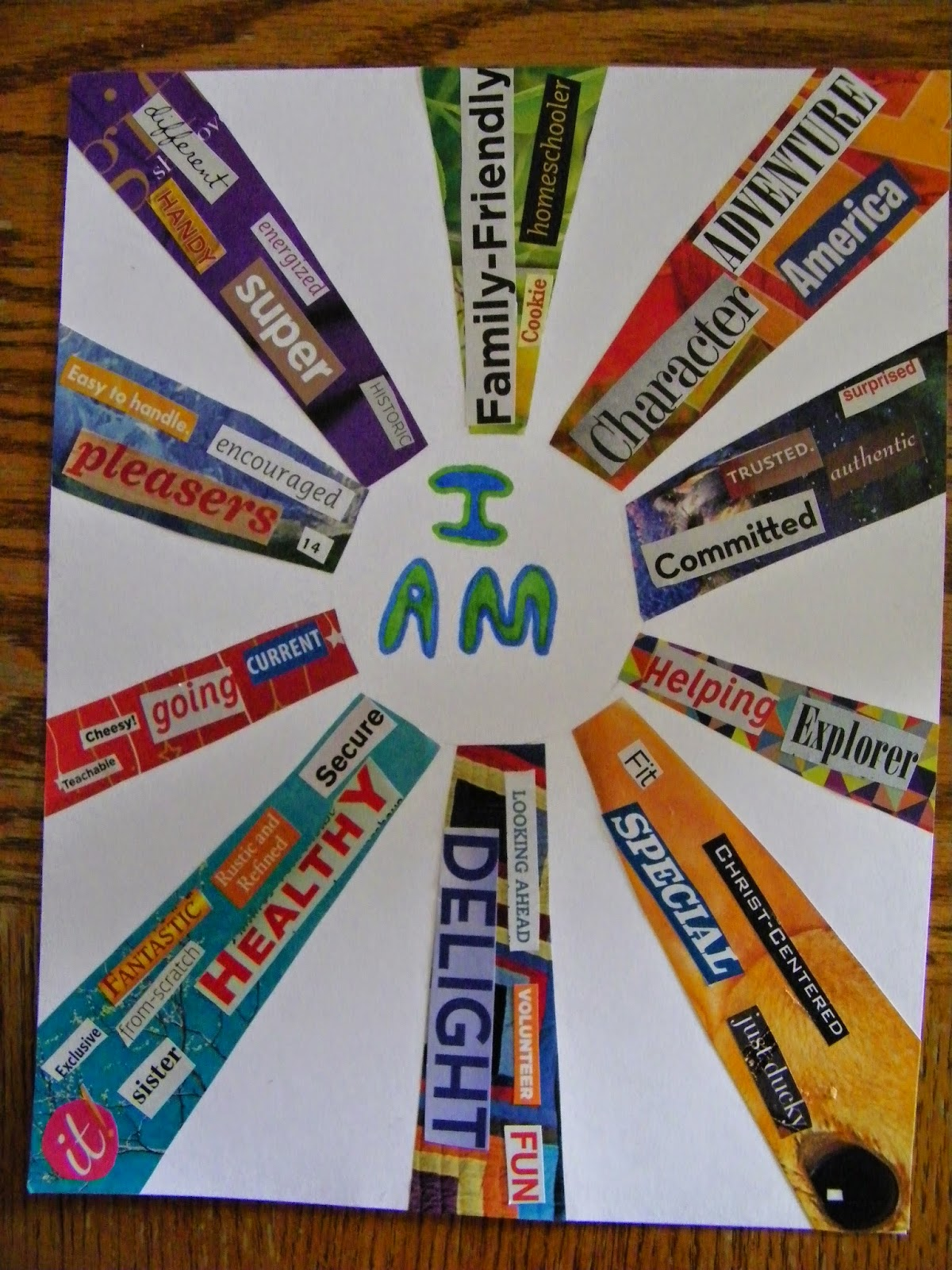 "Eclectic Momma: ""I Am..."" Collage Art Projects"