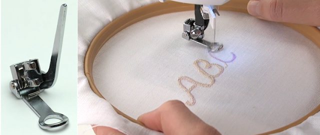 Embroidery presser foo