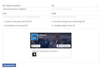 Cara Mudah Memasang Fanspage Facebook Like Box di Blog