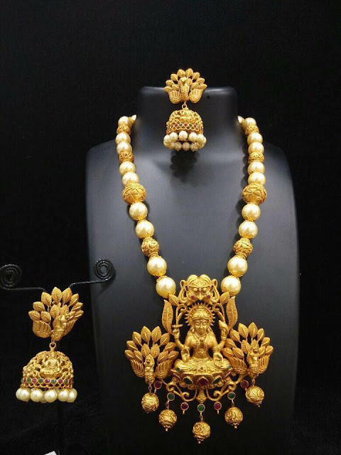 Lakshmi Pendants with Jhumkas in Imitation