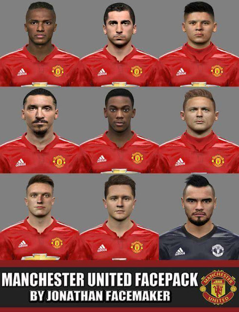 Manchester United Facepack PES 2017