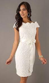 Vestido de noiva curto de renda para casamento no civil