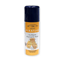 Winsor and Newton fixative for charcoal and pastel works