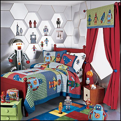 Decorating theme bedrooms maries manor outer space for Robot baby room decor