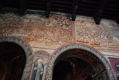 Lippo Vanni peint une grande fresque monochrome, la victoire de l'armée siennoise à Val di Chiana en 1363 contre des mercenaires anglais