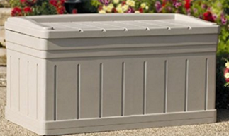 ... Suncast Deluxe Outdoor 129 Gallon Deck Storage Box, Suncast Storage  Boxes, Suncast Vertical Deck