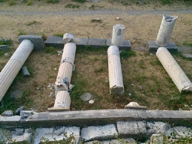 Earthquake damaged Kos sites and monuments, archaeological service reports