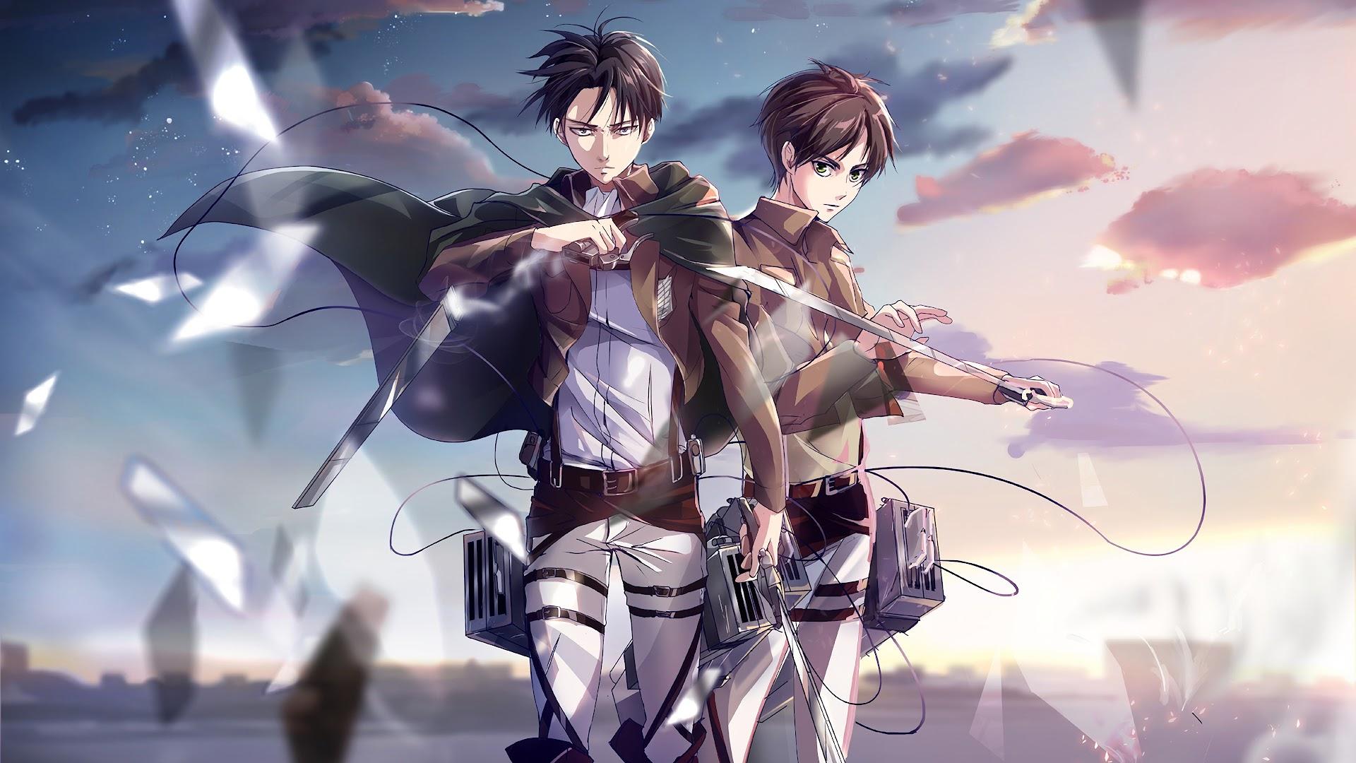 Levi And Eren Attack On Titan 4k Wallpaper 126