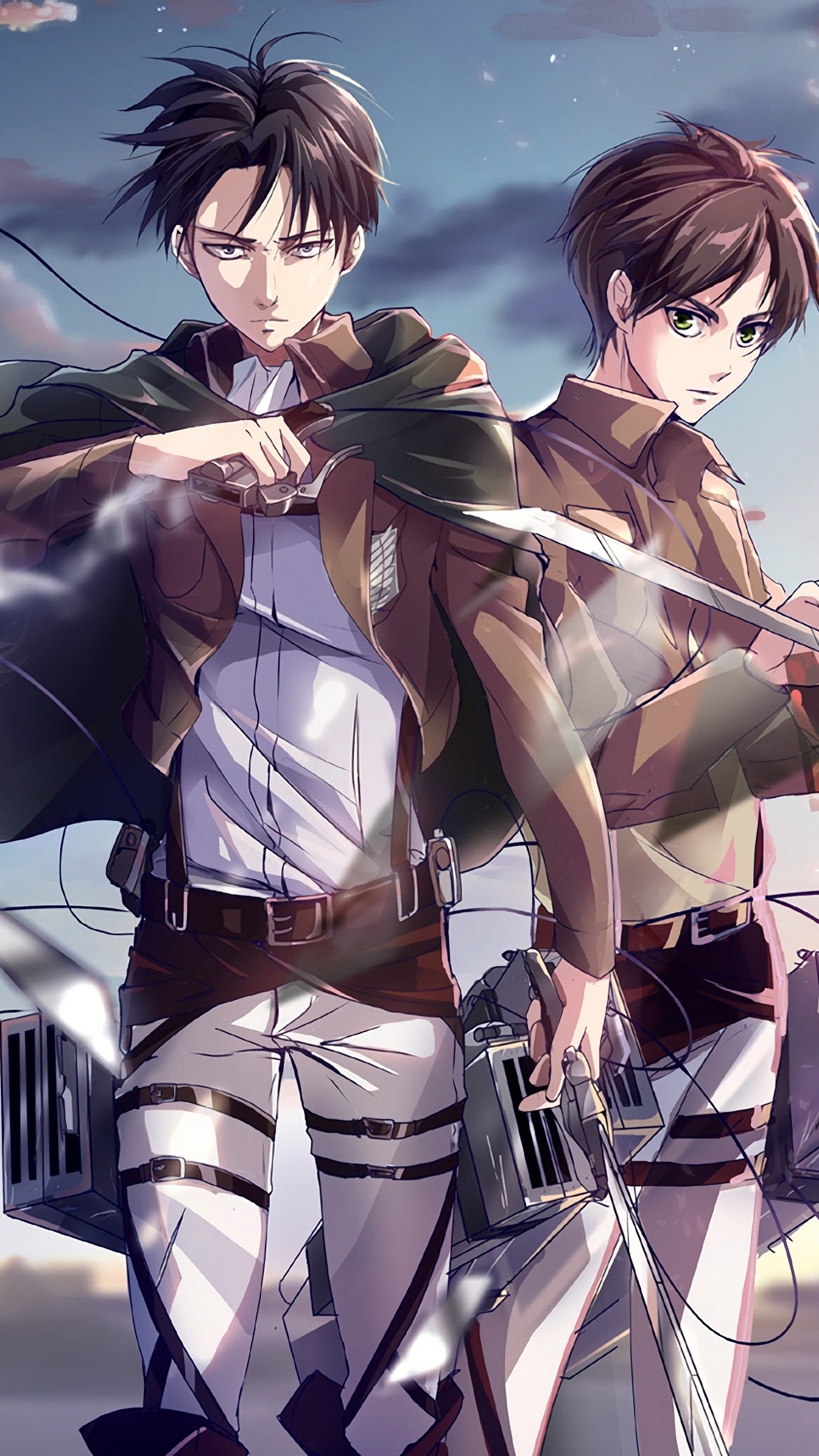 Levi And Eren Attack On Titan 4k Wallpaper 126