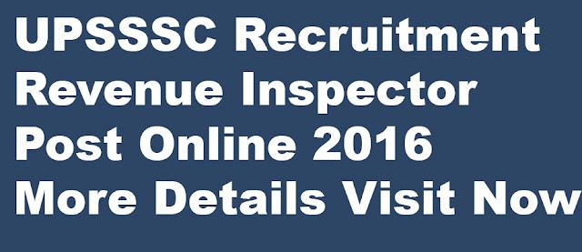 UPSSSC Recruitment 2016