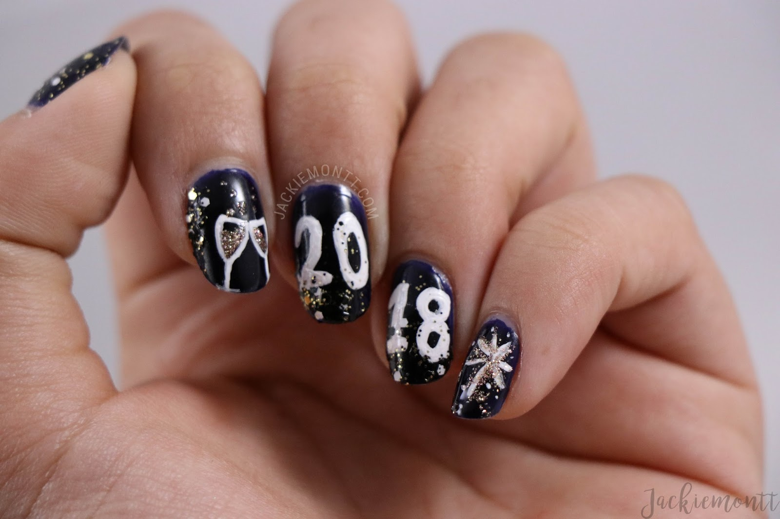 New Years Eve Nail Art Jackiemontt