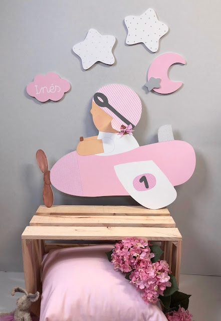 siluetas infantiles para decorar pared