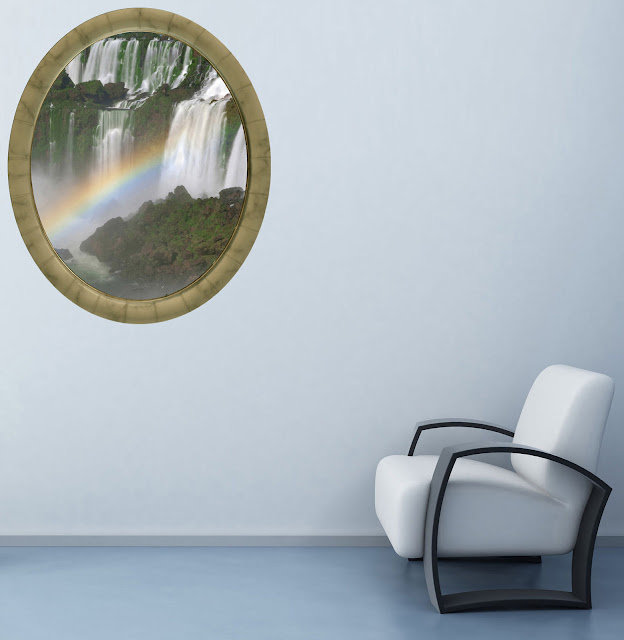 Trompe L Oeil Adesivi Murali.Arredi Murali Adesivi Murali Quadri Moderni Trompe L Oeil Gli