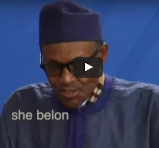 Watch Video Of President Buhari Says His Wife, Aisha Is A 'Common Kitchenware'