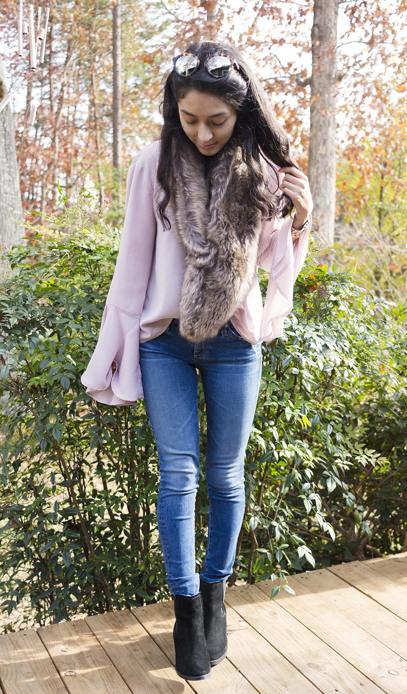 blogger style faux fur