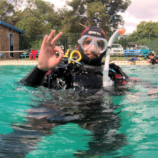 Diver in the water at African Adventure Academy