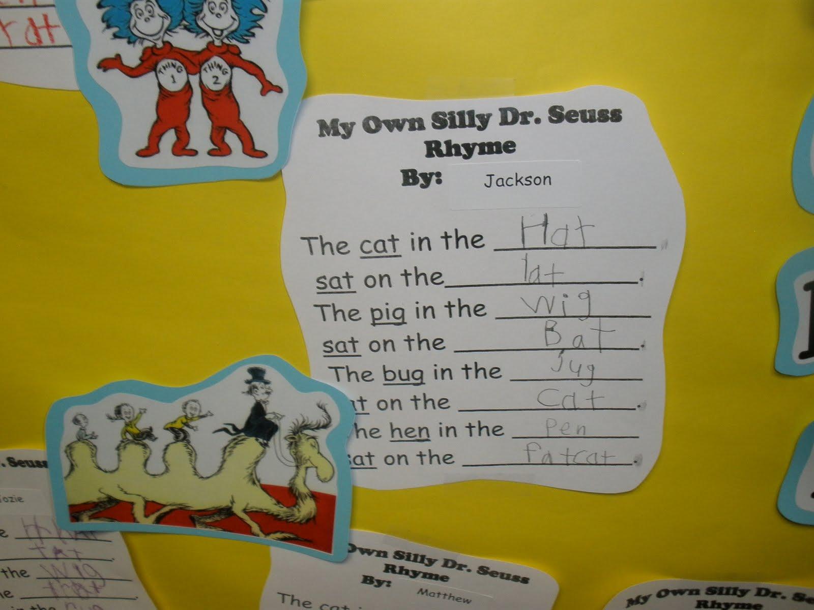 The Art Of Teaching A Kindergarten Blog Dr Seuss Week