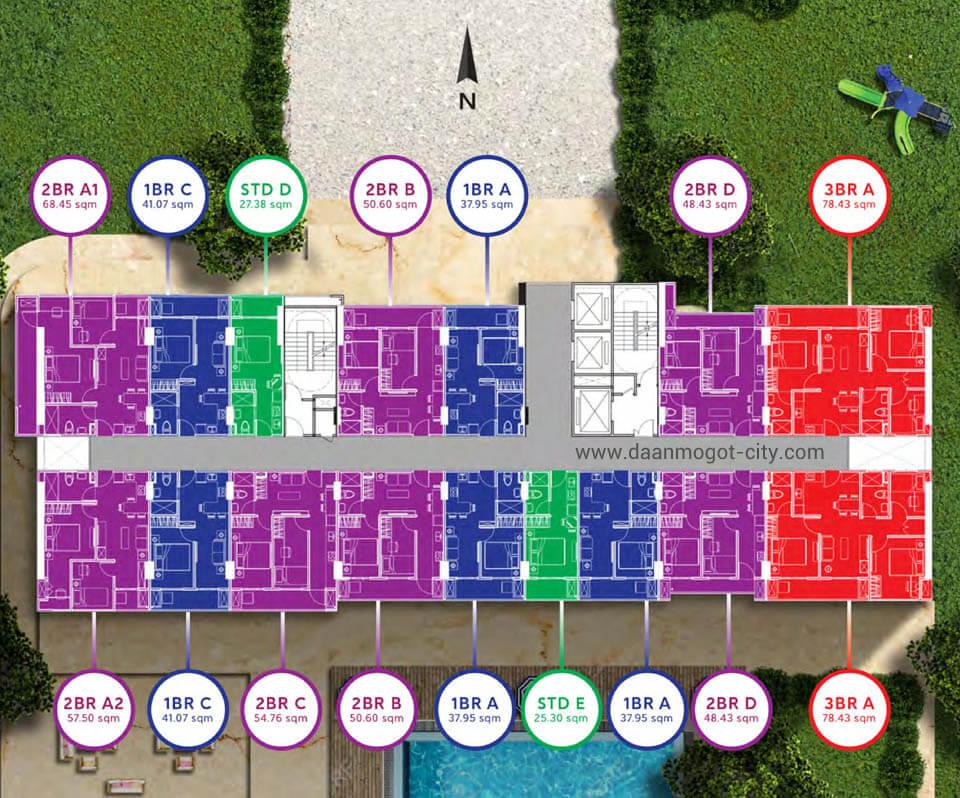 Floor Plan Apartemen Daan Mogot City