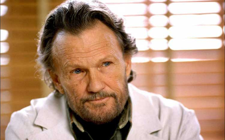 Kris Kristofferson is a cruel doctor in The Jacket.