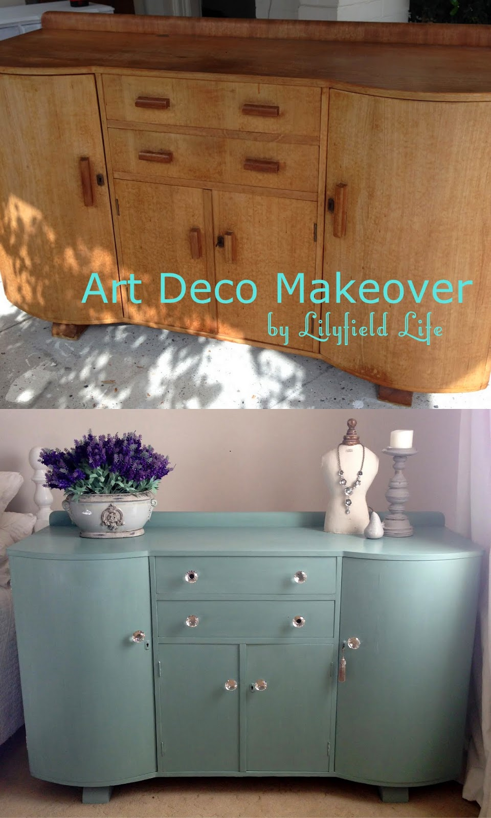 Art Deco Sideboard Hand Painted By Lilyfield Life Sydney