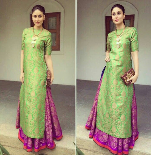 dress to wear to a wedding as a guest. if you are tired with overload of net anarkalis as indian wedding guest dresses then i have a fresh new outfit idea for you. go long stragiht cut kurtas dress to wear