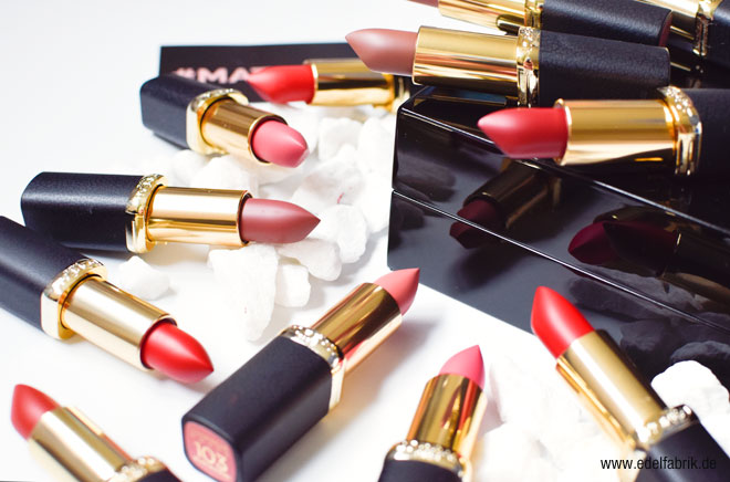 L'Oréal Color Riche Lippenstifte Matt - Swatch, alle Farben
