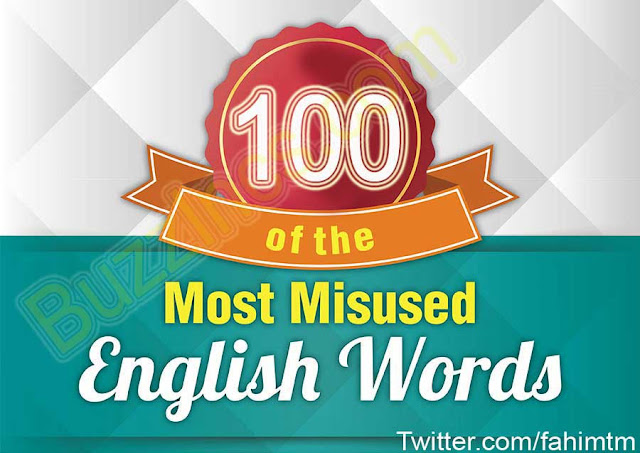 Most Commonly Misused Words and Phrases in English Language