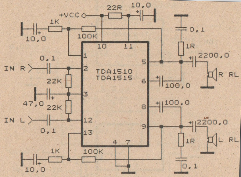 Electronic Circuit Diagram Audio Amplifier An7148 1w