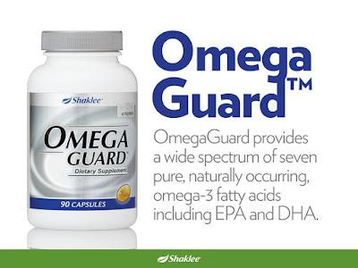 Omega Guard Shaklee mengandungi DHA dan EPA untuk perkembangan otak bayi dan kanak-kanak