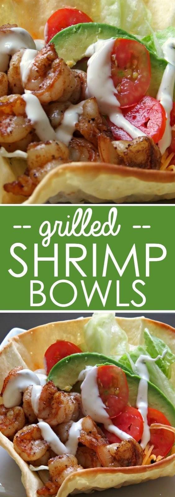 Grilled Shrimp Bowls