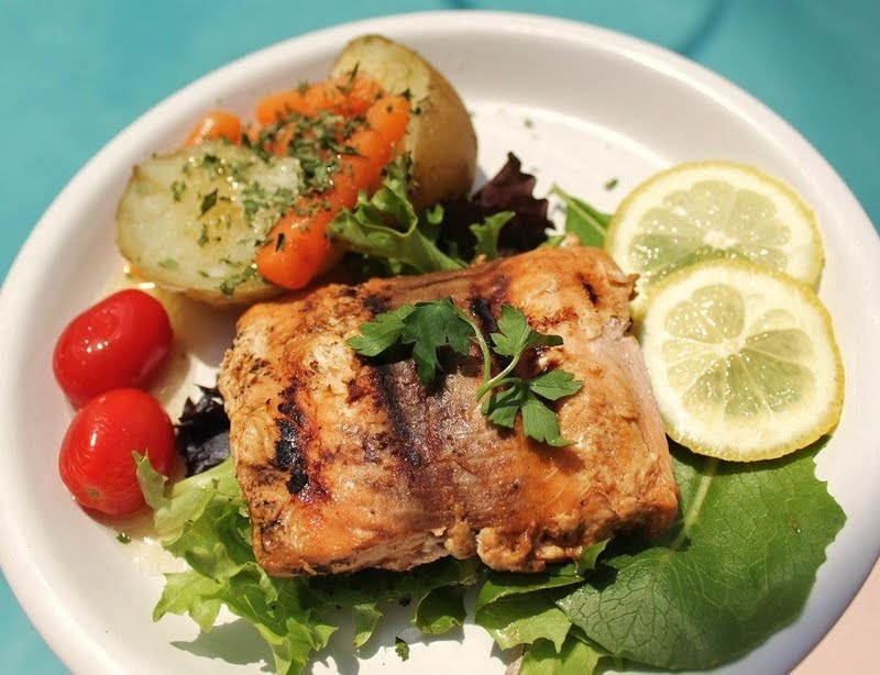 a delicious grilled lemon salmon healthy heart food