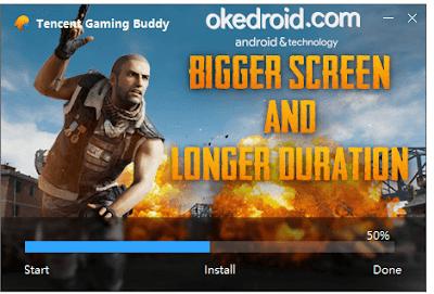 Proses penginstallan Tencent Gaming Buddy for PUBG Mobile di PC