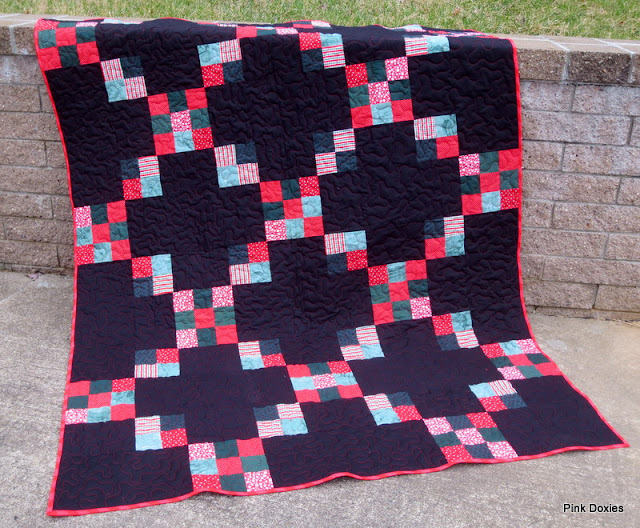 """Charity Chain Quilt"" Free Pattern designed by Julie Stocker from Pink Doxies"